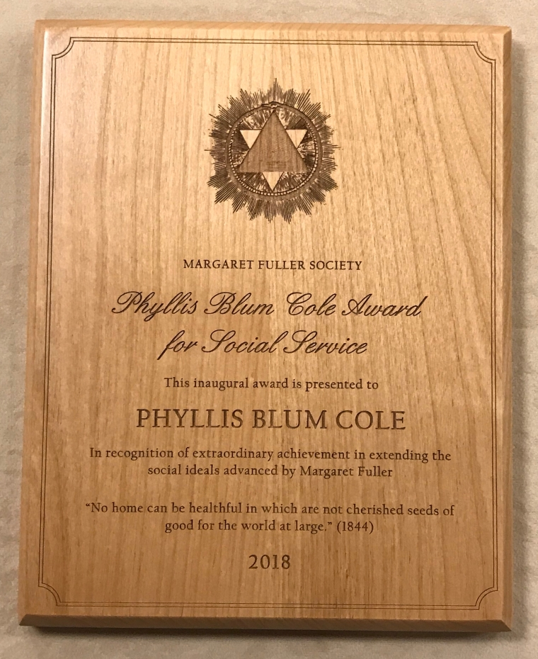 Phyllis Blum Cole Award for Social Service